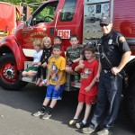 BRECA Picnic In The Park 2012 - Kids and fire trucks.