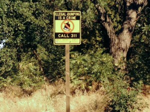 Illegal Dumping Sign.