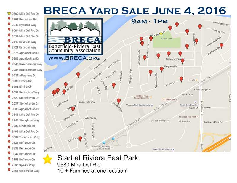 BRECA Yard Sale 2016