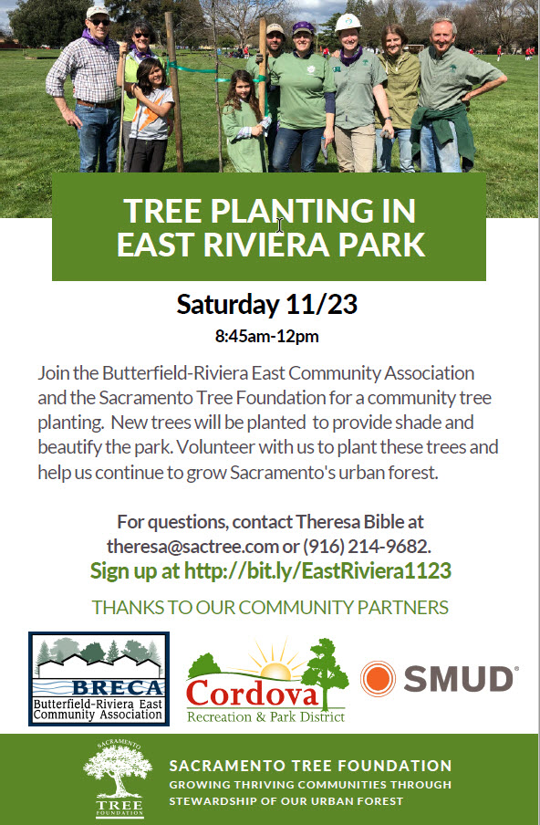 Tree Planting at Riviera East Park